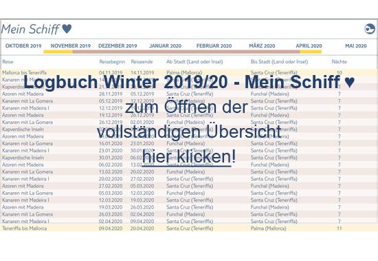 Winter 2019/2020 - <i> Mein Schiff Herz</i>