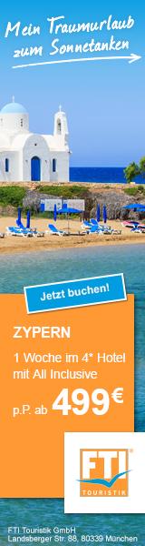 Zypern mit FTI Touristik schon ab € 499,- p.P.