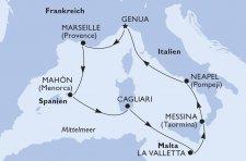 Italien, Frankreich, Spanien, Malta