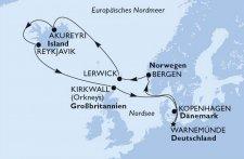 Deutschland, Norwegen, Grossbritannien, Island, Dänemark