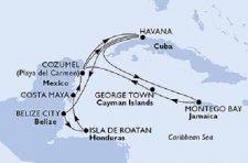Kuba, Belize, Honduras, Mexiko, Jamaika, Cayman Islands